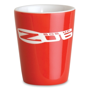 Corvette Shot Glass with C6 Z06 505HP Logo : Red