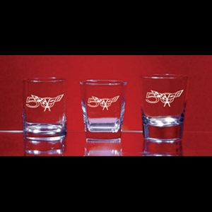 C5 Corvette Glassware - 50th Anniversary Logo