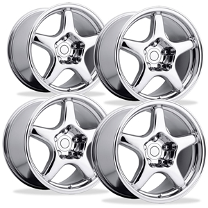 Corvette Wheels - 1994 ZR1 Style Reproduction (Set) : Chrome