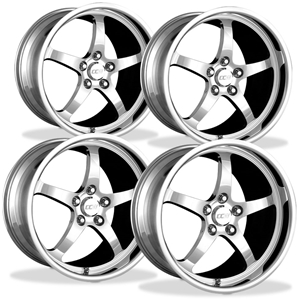 Corvette Wheels Custom - 1-Piece Forged Aluminum (Set) : Style SP500