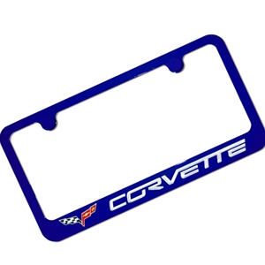 Corvette Color-Matched License Plate Frame C6 2005-2013 C6