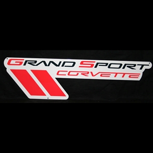 "Corvette Grand Sport Emblem Wall Sign 35"" : 2010-2013 Grand Sport"
