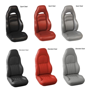 97-04 C5 / Z06 Corvette 2-Tone Custom Seat Covers