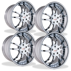 Corvette Custom Wheels - WCC 947 EXT Forged Series (Set) : Chrome