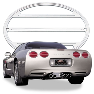 1997-2004 C5 Corvette Billet Chrome Taillight Bezel/Louvers