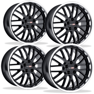 Corvette Wheels - Cray Manta (Set) : Black with Machined Lip