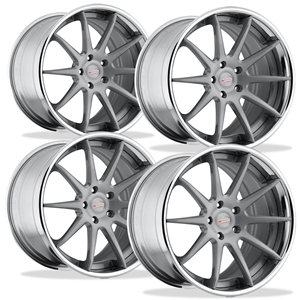 Corvette Custom Wheels WCC 633 3 Pc. Forged Series (Set): Silver Brushed 19x10/20x13 2006-2011 Z06,ZR1,Grand Sport