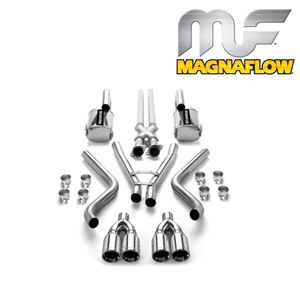 Corvette Exhaust System - Magnaflow Exhaust with Tru-X Pipe : 2005-2013 C6