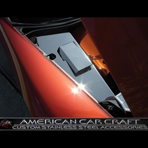 Corvette Inner Fender Covers 4 Pc. (Set) Stainless Steel - Polished : 2006-2011 Z06 & Grand Sport
