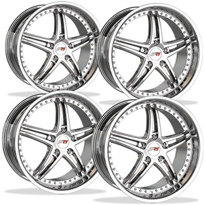 Corvette SR1 Performance Wheels - BULLET Series (Set) : Chrome 18x8.5/19x10 1997-2013 C5,C6