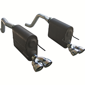 Corvette Exhaust System - Flowmaster Force II (Quad Tip) : 2005-2008 C6