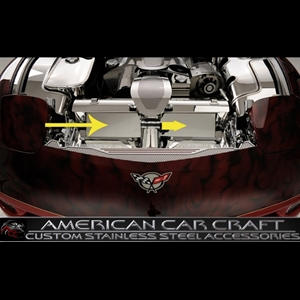 Corvette Air Tunnel Cover - Polished Stainless Steel : 1997-2004 C5 & Z06