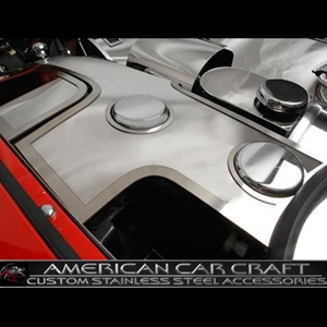 Corvette Washer Tank Covers with Cap Cover - Polished Stainless Steel : 1997-2004 C5 & Z06