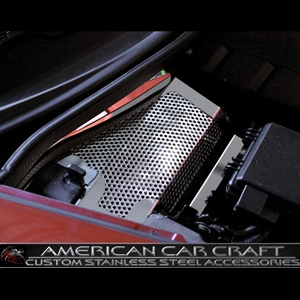 Corvette Battery Cover - Perforated Stainless Steel : 2008-2013 C6,Z06,Grand Sport