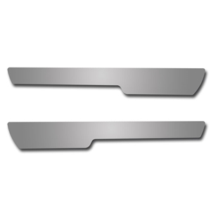 Corvette Overlay for Stock Door Sill - Polished Stainless Steel : 2005-2007 C6