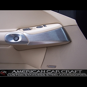 Corvette Knee Guard Trim - Brushed Stainless Steel : 2005-2013 C6
