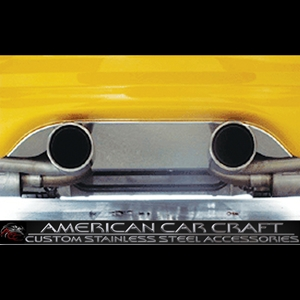 "Corvette Exhaust Port Filler Panel - Polished Stainless Steel for Borla Stinger Dual 4"" Tips : 1997-2004 C5 & Z06"
