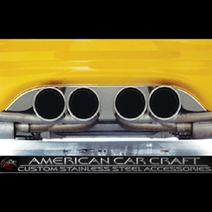 Corvette Exhaust Port Filler Panel - Polished Stainless Steel for Borla Stinger Quad Tips : 1997-2004 C5 & Z06