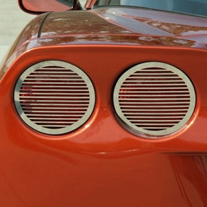Corvette Taillight Grilles Billet Style - Polished Stainless Steel 4 Pc. : 2005-2013 C6,Z06,ZR1,Grand Sport