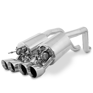 "Corvette Exhaust System - B&B Fusion with 3.5"" Quad Round Tips : 2009-2013 C6 Conversion for Non-NPP Equipped"