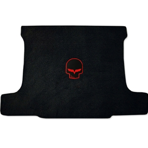 Corvette Cargo Mat - Jake Skull Design Only Yellow - Coupe : 2005-2013 C6,Z06,ZR1,Grand Sport