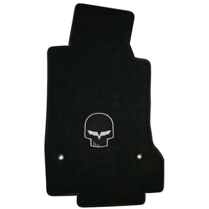 Corvette Lloyd Ultimat Floor Mats - Jake Skull - C6 Early Design 2005-2007 (Post Anchor)
