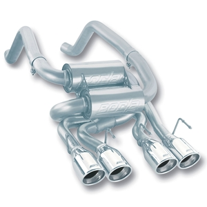 "Corvette Exhaust System - Borla Rear Section ""Classic S-Type"" - 4"" Round Rolled Angle Cut Tips : 2005-08 C6"