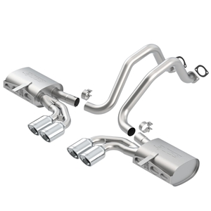 "Corvette Exhaust System - Borla Catback ATAK/4 Oval 4/25"" x 3.5"" Tips Rolled/Angle Cut : 1997-04 C5 & C5 Z06"