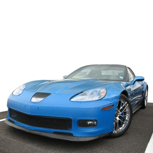Corvette Bra Speed Lingerie Color Matched NO License Plate Pocket : 2009-2013 C6 ZR1