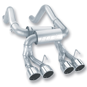 "Corvette Exhaust System - Borla Rear Section S-Type 4 Rd 4.25"" Rd, Ac, Ic Tips : 2006-13 C6 Z06 & ZR1"