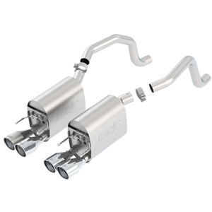 "Corvette Exhaust System - C6 Borla Rear Section Touring/4 Rd 4"" Rd, Ac Tips : 2009-13 C6"