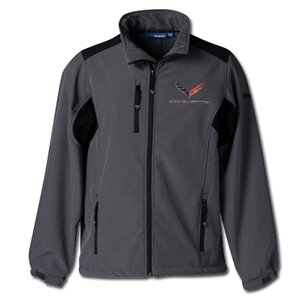 2014, 2015, 2016, 2017, C7 Logo Corvette Reebok Softshell Jacket : Graphite