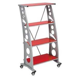 Racing Style Red Bookcase
