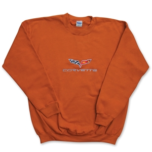 Corvette Sweatshirt - Fleece Embroidered C6 - Copper