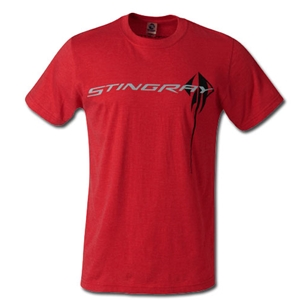 C7 Corvette Stingray Chest Logo T-shirt : Heather Red - 2014+