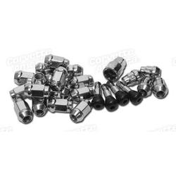 Corvette Chrome Wheel Lugnuts, Locks, & Valve Stems Kit: 1984-1996