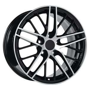 Corvette Wheel - 2009 ZR1 Style Reproduction : Black with Machined FaceC4 C5 C6