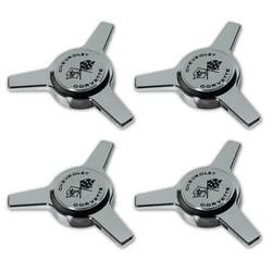 Corvette Hubcap Spinner Set. 4 Piece: 1963