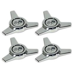 Corvette Hubcap Spinner Set. 4 Piece: 1964