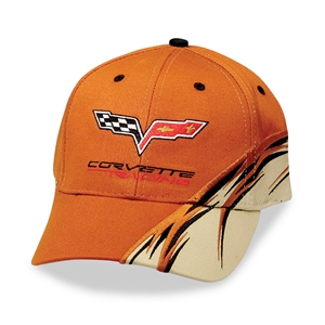 2005-2013 C6 Corvette Racing Orange Flash Cap/Hat