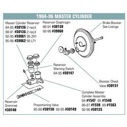 Corvette Brake Booster. Except ZR1 - Remanufactured: 1992-1996