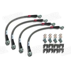 Corvette Brake Line Kit. Braided Stainless Steel: 1984-1987
