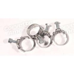 Corvette Fuel Line Hose Clamps. Afb Or Fuel Injection: 1963-1964