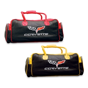 C6 Corvette Two-Tone Leather Duffel