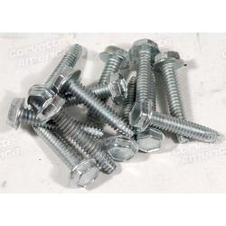 Corvette Hubcap Spinner Screws. 12 Piece Set: 1966