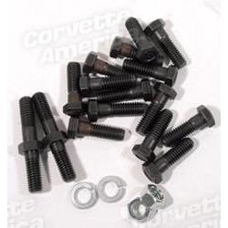 Corvette Exhaust Manifold Bolt Set. 427/454 W/Air Conditioning: 1966-1974