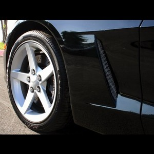 Corvette Fender Duct Screens : 2005-2013 C6