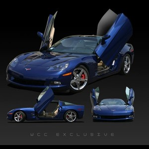 Corvette Lambo Style Vertical Doors - Hinge Kit : 2005-2013 C6,Z06,ZR1,Grand Sport