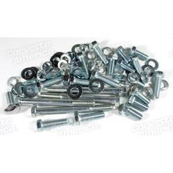 Corvette Rear Bumper Mount Bolt Kit. 74 Piece: 1961-1962