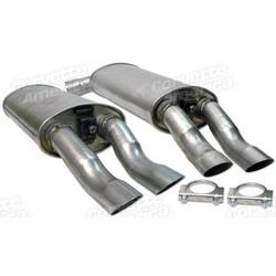 Corvette Mufflers. Aluminized W/Tips (1984 Replacement): 1985-1990